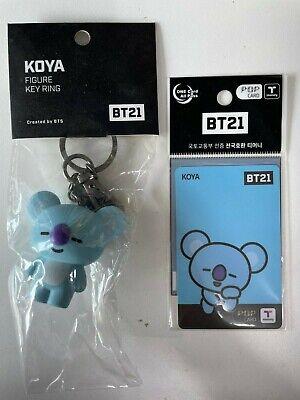 BTS BT21 KOYA T money Card + Key Ring BangTan Boys Cute Character KPOP