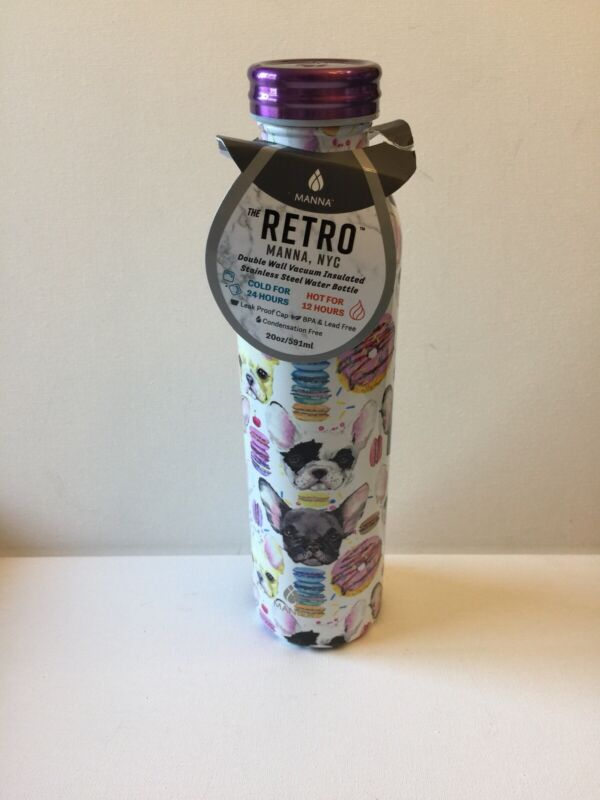 French Bulldog Insulated Water Bottle
