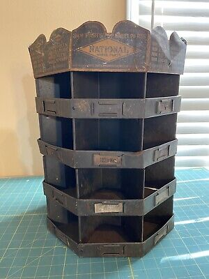 National Auto Wheel Parts Rotating Bin Storage Metzger Chicago Industrial