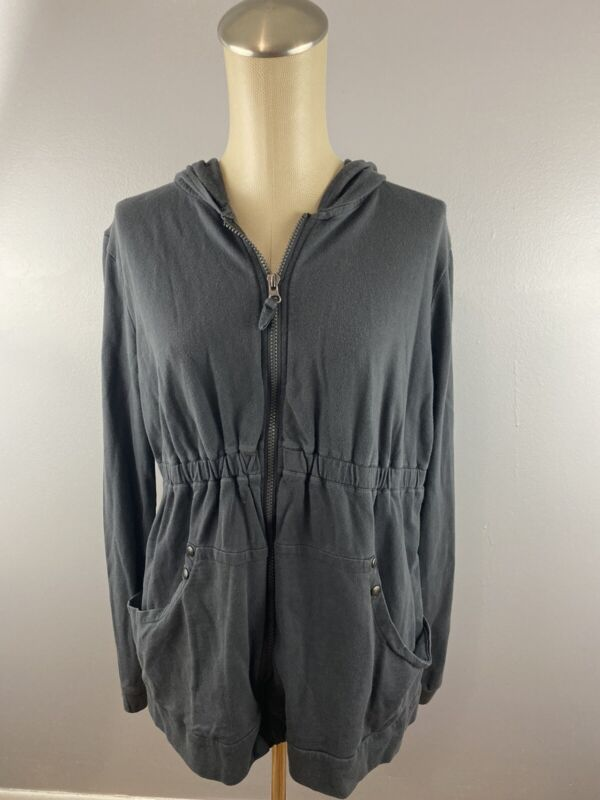 Liz Lange Maternity Zip Hooded Gray Sweater Sz Medium AT