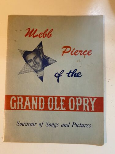 Webb Pierce of the Grand Ole Opry -   Signed Autograph