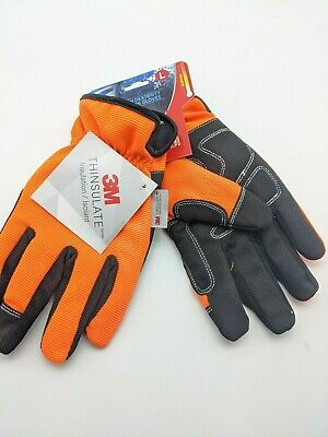 West Chester L Work Gloves High Visibility Orange Large W 3m Thinsulate