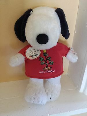 Hallmark Snoopy Peanuts Christmas Light Up Sweater Musical Stuffed Plush Animal