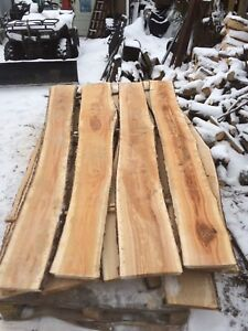 Black cherry live edge slabs and rough lumber