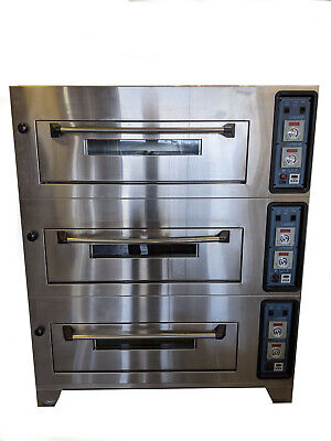 3-deck Commercial Bakery Oven Electric 240vac General Gem120 Mixer Trays