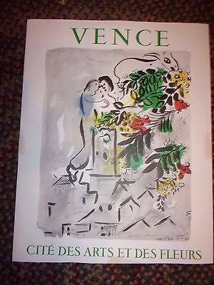 """1954 Marc Chagall Vence - Cite Des Arts Et Des Fleurs  25.5"""" x 20""""  - LOTDEB"""