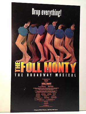 The Full Monty Musical Theatre Broadway Play Poster Original