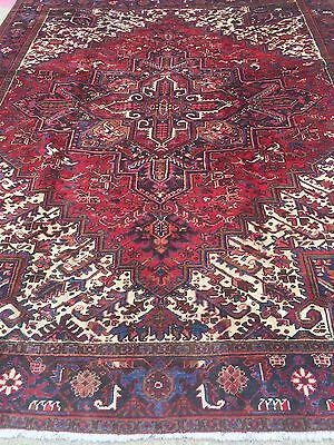 Hand Knotted Persian TABRIZ- Heriz Antique look Rug 8 x 10 ,9x11