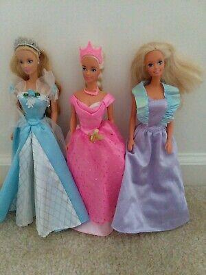 Barbie Dolls Princess-Lot of 3