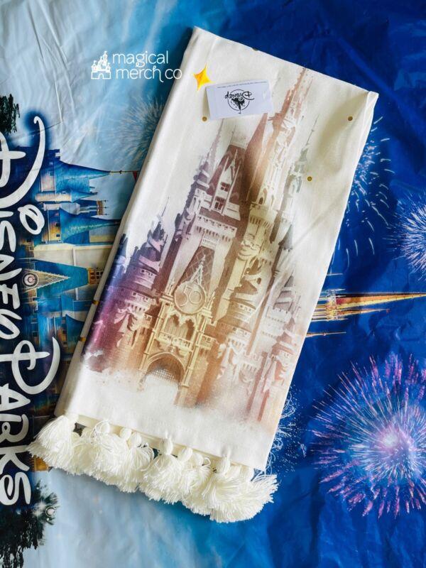 2021 Disney World 50th Anniversary Castle Kitchen Hand Towel New In Hand