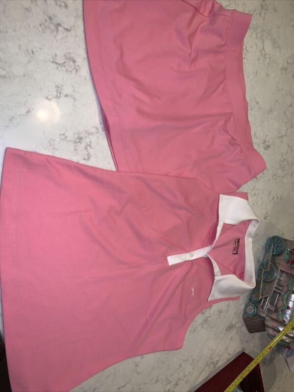 Slazenger Golf/Tennis Skirt Skort & Top Set  Sz Large  Pink