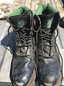 Men's size 12 steel toes and other shoes used