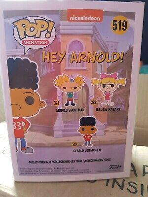 Funko Pop Vinyl Figura Hey Arnold! Gerald Johanssen Nuevo 519