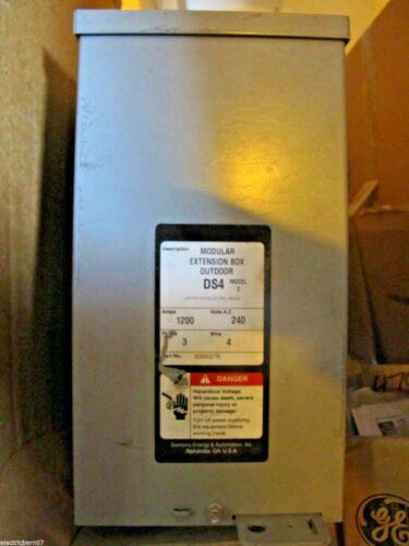 Siemens Ds4 1200 Amp, 240 Volt, Extension Box, Nema 3r-new- Mb64