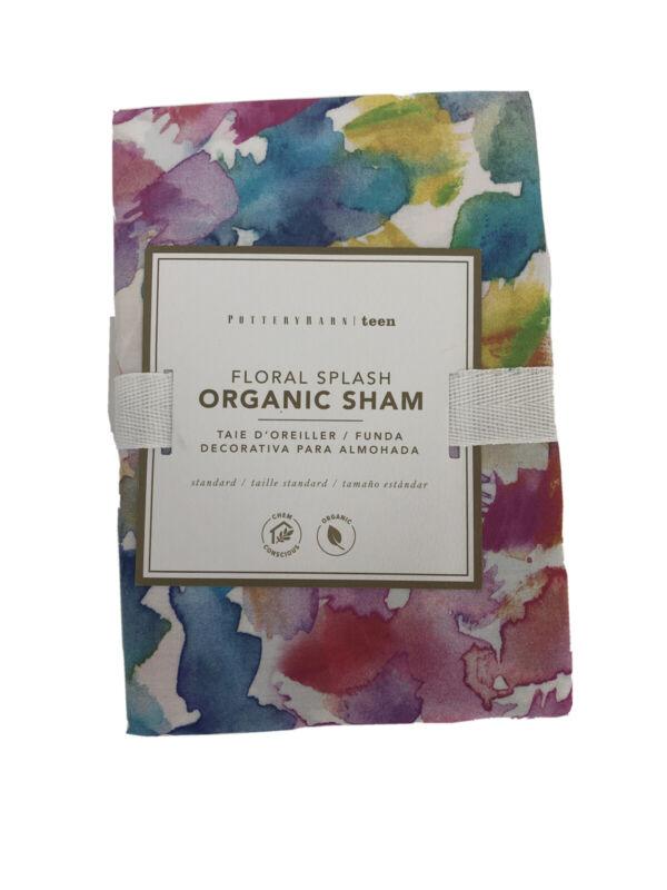 Pottery Barn Teen Floral Splash Organic Sham Standard Pillow Case