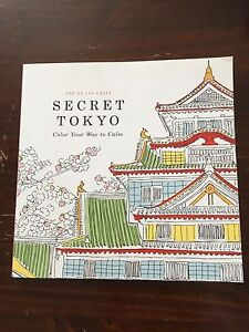 Secret Tokyo Adult colouring book BRAND NEW