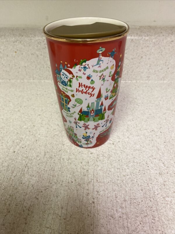New 2020 Disney Parks Disneyland Starbucks HOLIDAY RED Ceramic Mug Tumbler