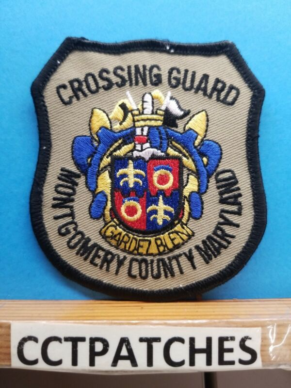 MONTGOMERY COUNTY, MARYLAND CROSSING GUARD (POLICE) SHOULDER PATCH MD