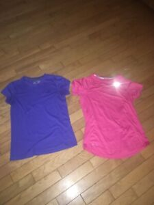 Nike and Adidas dry fit shirts