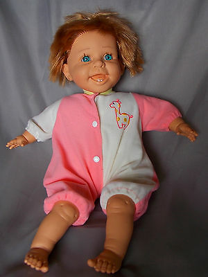 "Berenguer Doll Laughing Happy Toddler Vinyl Cloth 18"" Play or Reborn Expressions"