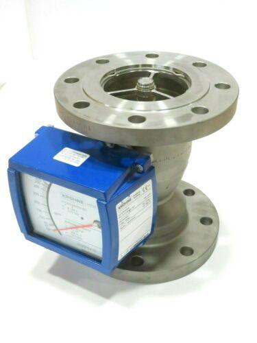 "4"" Krohne H250/RR/M9 CL150 Stainless Steel Variable Area Flowmeter K 105.1 NEW B"
