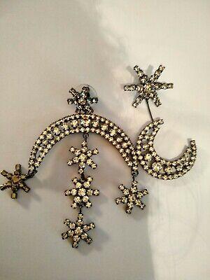 Jennifer Behr Star & Moon Crystal Cascade Stud Earrings