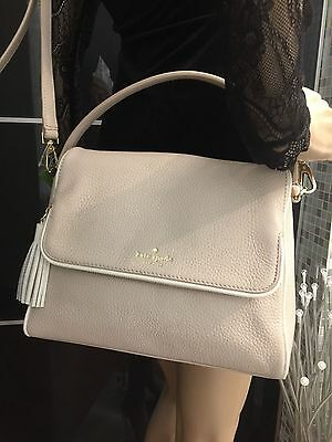 Kate Spade Chester Street Miri Pumice Cement Leather Handbag Crossbody Bag