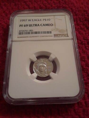 1997 W 1/10 Oz 10 Proof Platinum Eagle Coin PF69 NGC EXCELLENT LOW PRICE  - $240.00
