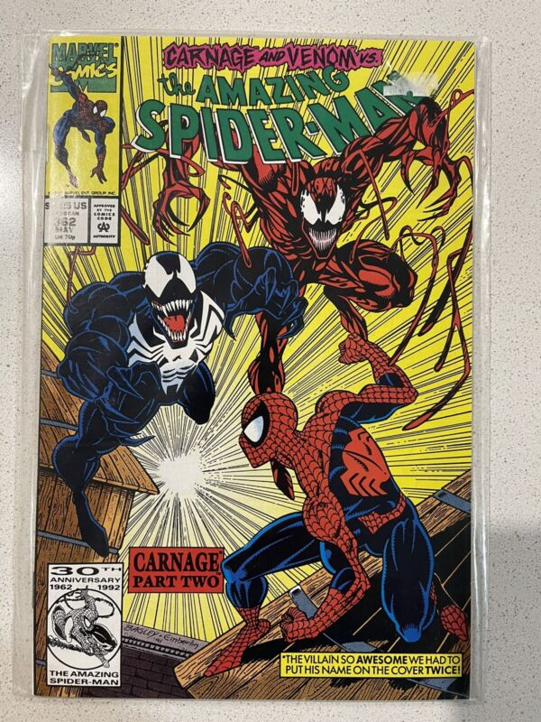 Amazing Spiderman 362 Carnage Part 2 - 1st Edition!!!