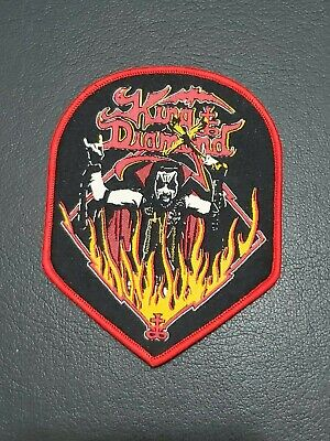 "KING DIAMOND Music Band ""Flames"" Patch Jacket, T-Shirt Iron on Clothing Badge , usado segunda mano  Embacar hacia Argentina"