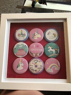Unicorn Framed Badges
