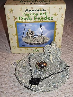 Tranquil Garden Gazing Ball Hanging Bird DISH FEEDER