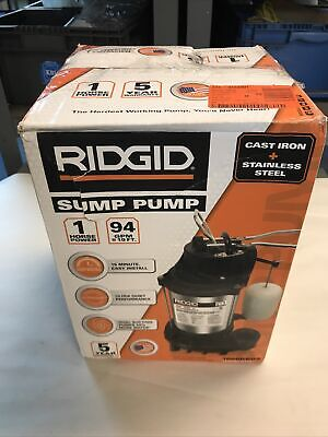 Ridgid 1hp Dual Suction Sump Pump 94gpm Nos
