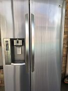 LG fridge freezer stainless steel side by side door Sunnybank Hills Brisbane South West Preview