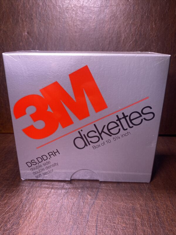 "3M 5.25"" DS DD Double Sided Double Density Floppy Disk *Sealed* 5 1/4 inch"