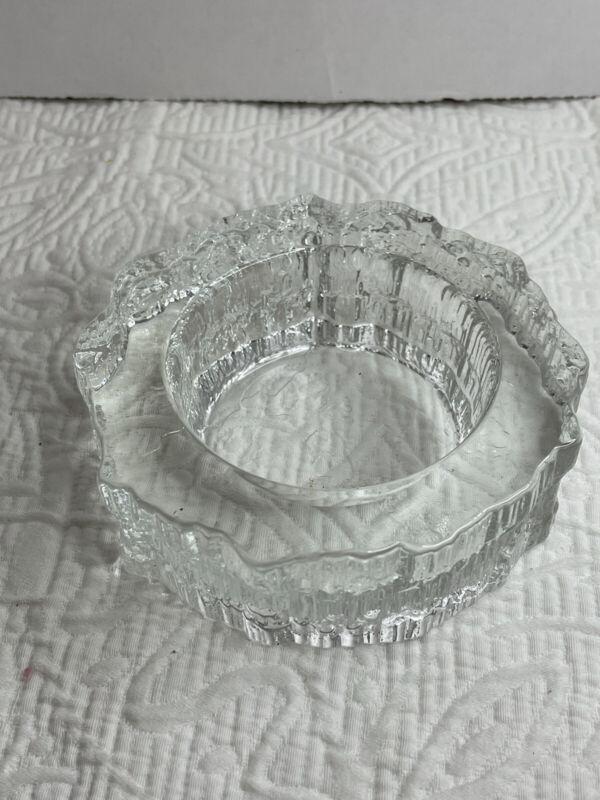Littala Finland Aslak Scandinavian Glass Bowl Tapio Wirkkala Nordic