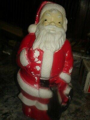 "Vintage Lighted Empire Blow Mold Santa Claus Christmas Tabletop 13"" Bin 963"