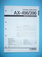 Manual De Servicio Para Yamaha Ax-496/ax-396, Original - yamaha - ebay.es