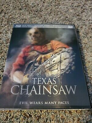 Texas Chainsaw Massacre Tobe Hooper 3D Blu Ray Hard to Find 3D cover art no dig