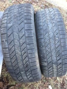 Two 215/60r16 winter tires excellent tread text 902 222 5775