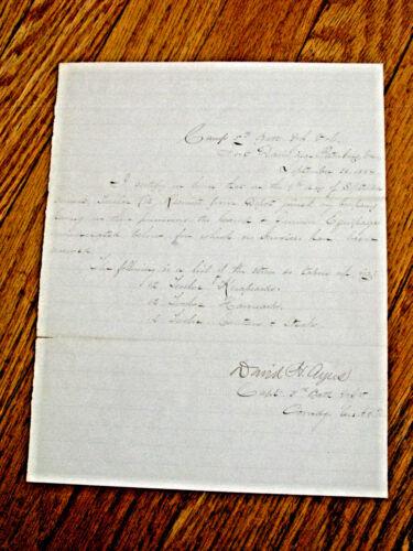 NEW JERSEY CIVIL WAR 1864 PETERSBURG VIRGINIA VOUCHER