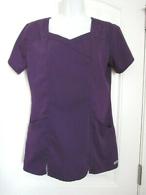 Grey's Anatomy ~ Womens Purple Short Sleeve Scrub Top Style #41402 ~ Small