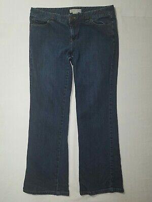 Michael Kors Womens Dark Wash Stretch Denim Jeans Size 10 Petite 10P Flap Pocket - Michael Kors Petite Jeans