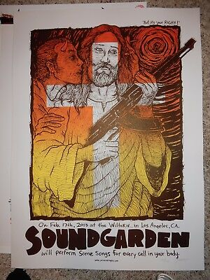 Soundgarden Poster Wiltern Theatre Los Angeles Feb 17, 2013 Signed & Numbered