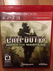 Call of duty 4 PS3 game