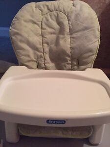 Highl chair that sits on kitchen chair