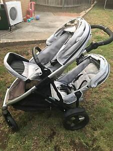 strider plus double pram Busby Liverpool Area Preview