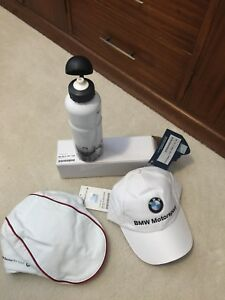 Bmw Sauber F1 gear hats/water bottle