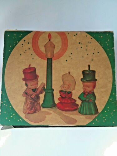 Vintage Gurley Christmas Caroller Set Candles Set of 4 in Original Box