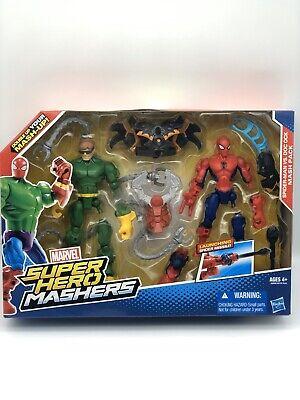 Hasbro Marvel Super Hero Mashers Spiderman Vs Doc Ock Action Figure New